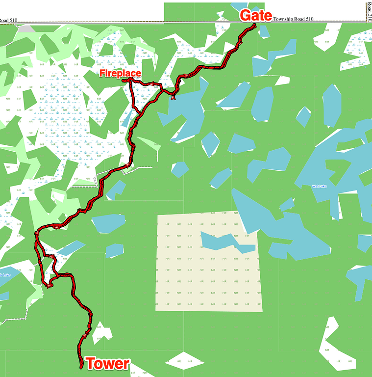 My route today