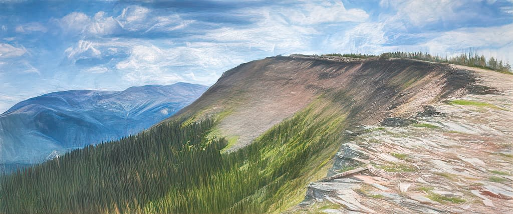 Hike up Cardinal Divide Ridge