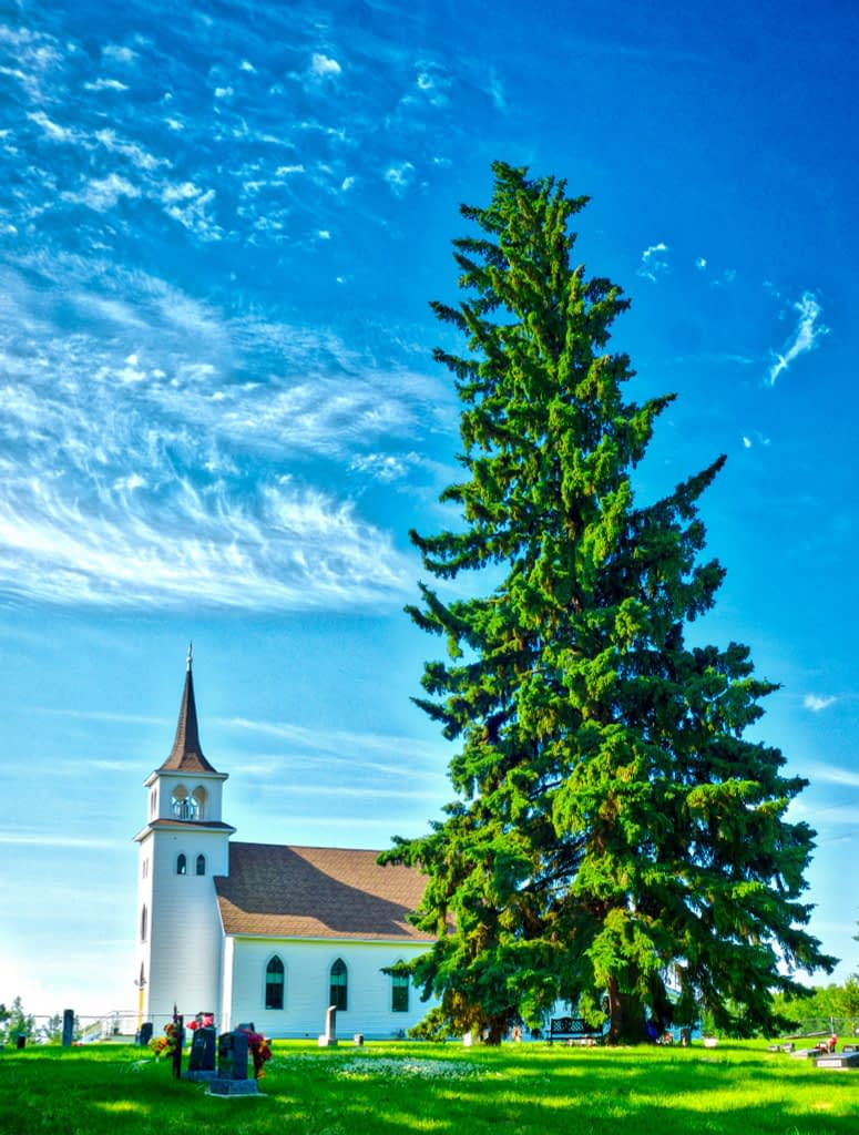 Wilhelmina Evangelical Lutheran Church near Hay Lakes, AB