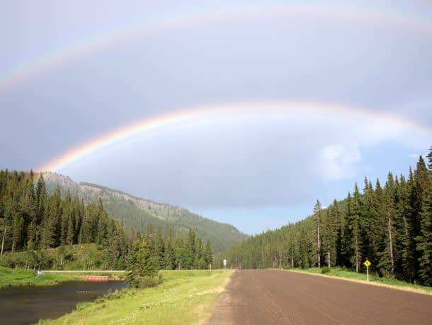 The awesome double rainbow that greeted me near where I'd parked.